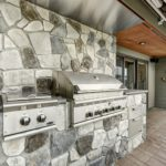Outdoor BBQ cook station